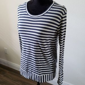 CAbi Tops - B2G1 Cabi Bengal Stripes Asymmetrical Hem Blouse